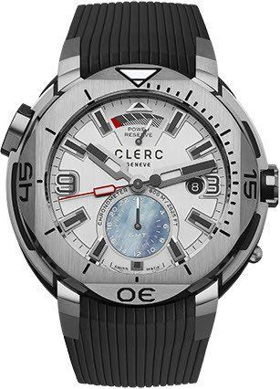 Clerc Watch Hydroscaph GMT Power Reserve GMT 1.1.1 Silver