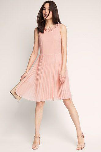 b4b969fe5f59 Esprit   Chiffon dress with 3-D details and pleats   Fashion Ideas ...