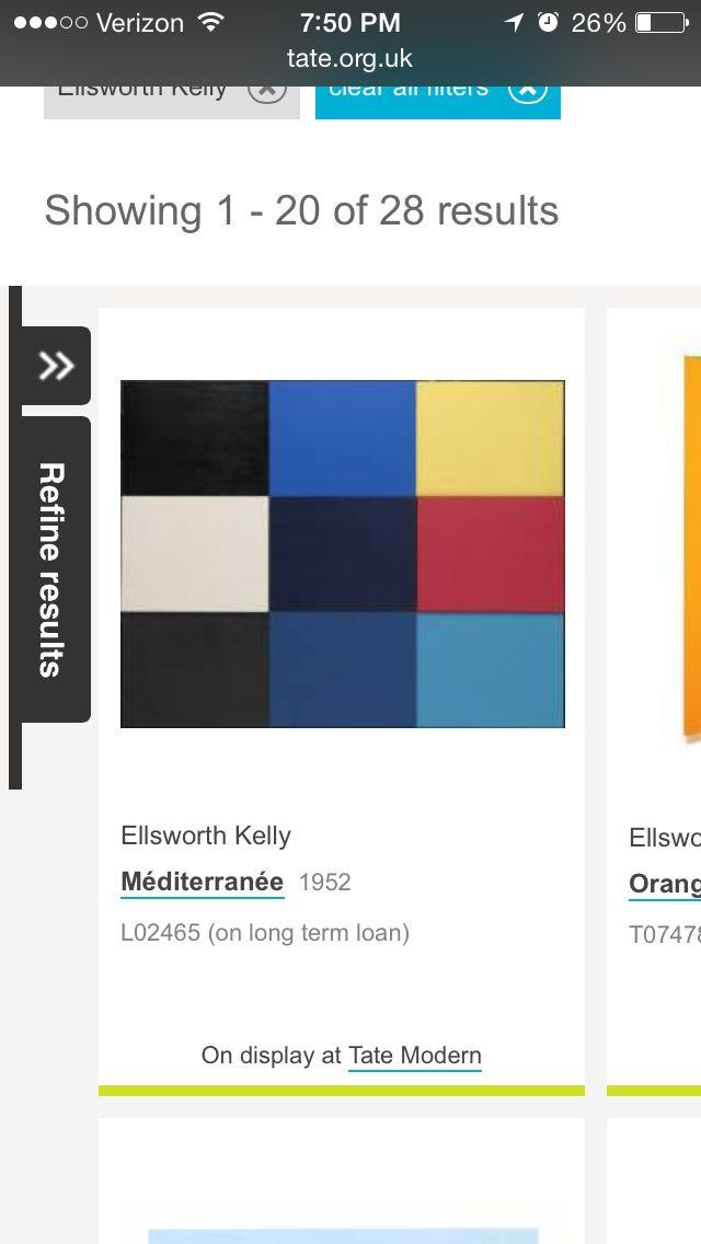 Ellsworth Kelly 1952 Méditerranée minimalism