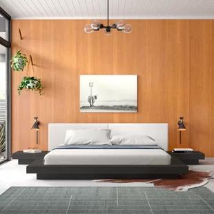Kimble Queen Upholstered Platform Bed Allmodern In 2020 Upholstered Platform Bed Platform Bed Modern Platform Bed