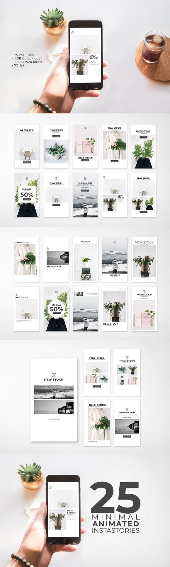 Animated instagram stories template Instagram story