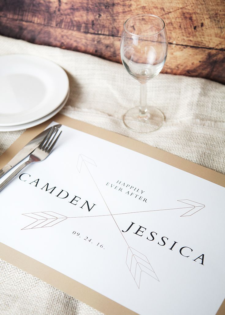 design your custom placemats for your wedding table or engagement
