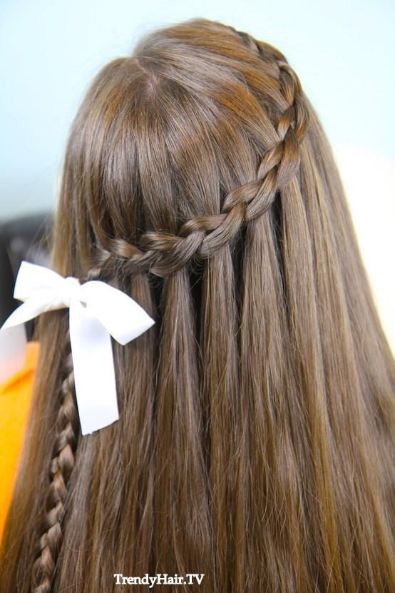 Cute Girl Hairstyles Waterfall Braids 3  Hairstyles  Pinterest  Hair Style Fans And Big