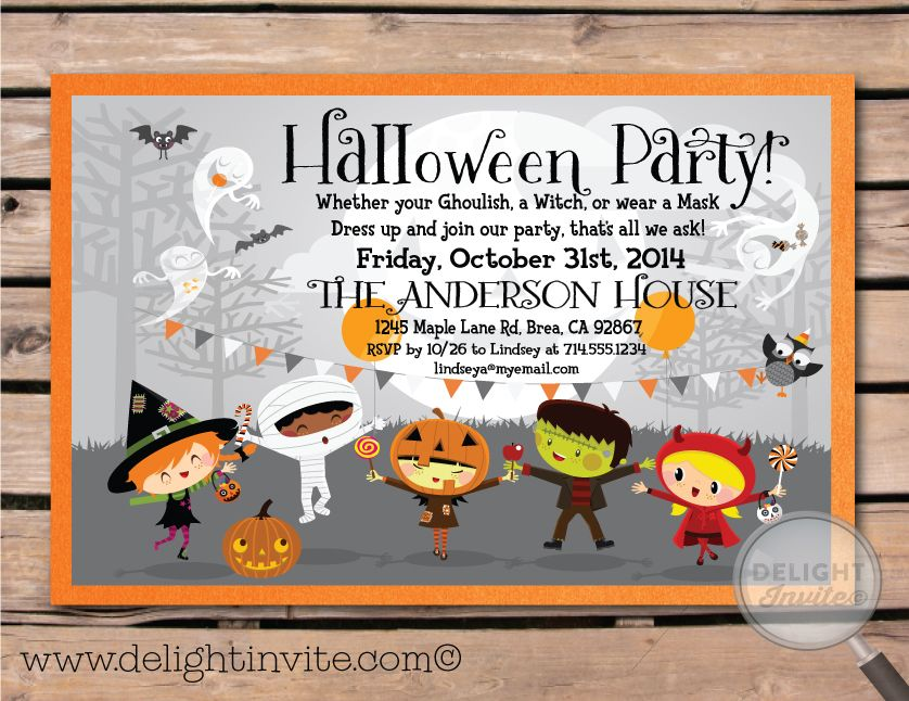 1000 images about Cute Kids Halloween Invitations – Halloween Party Invitations for Kids