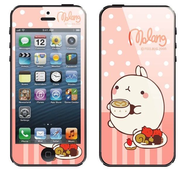 iPhone 4, 4s Molang Skin sticker