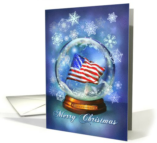 5a8c44c79d3d American Flag in Christmas Snow Globe
