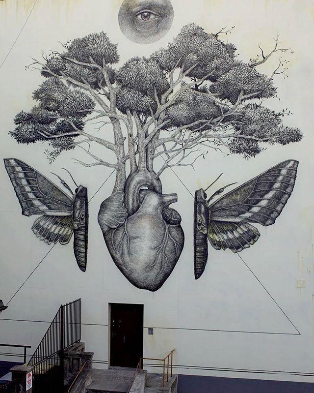 This Mural Looks A Lot Like A Tattoo Artist Alex Diaz Streetart