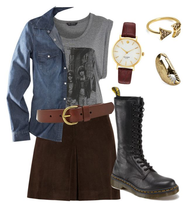 """""""Sem título #36"""" by kamimonteiro on Polyvore featuring moda, Miss Selfridge, Miu Miu, H&M, FOSSIL, Kate Spade, House of Harlow 1960 e Dr. Martens"""