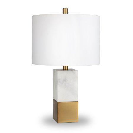 Evelyn Zoe Cararra Style Marble Table Lamp Walmart Com Glam Table Lamps Marble Lamp Table Lamp