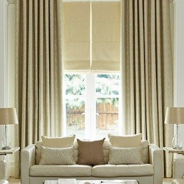 Cream Curtain Kashmir Living Room