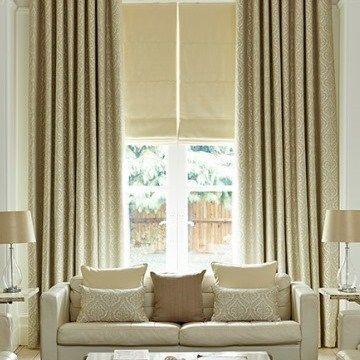 Cream Curtain Kashmir Living Room