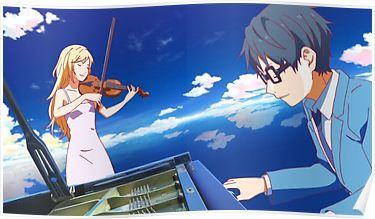 your lie in april poster by arlox in
