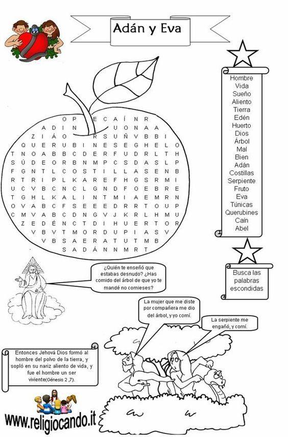ME ABURRE LA RELIGIÓN: ACTIVIDADES ADÁN Y EVA   ACTIVIDADES ...