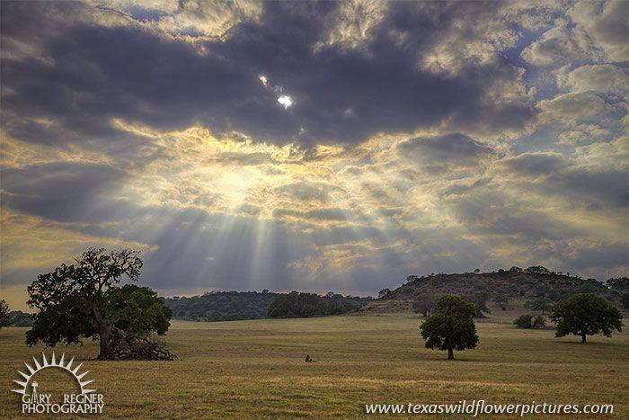 God Rays, Landscape, Texas, Llano County
