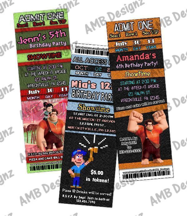 Wreck-it-Ralph Invitations - Wreck-it-Ralph Party Supplies #wreckitralph Wreck-it-Ralph Invitations, Wreck-it-Ralph ticket Invitations, Wreck-it-Ralph Personalized invitations, Wreck-it-Ralph party, Wreck-it-Ralph DIY Party, Wreck-it-Ralph Party Supplies/Invitations, Wreck-it-Ralph DIY Party #wreckitralph Wreck-it-Ralph Invitations - Wreck-it-Ralph Party Supplies #wreckitralph Wreck-it-Ralph Invitations, Wreck-it-Ralph ticket Invitations, Wreck-it-Ralph Personalized invitations, Wreck-it-Ralph p #wreckitralph