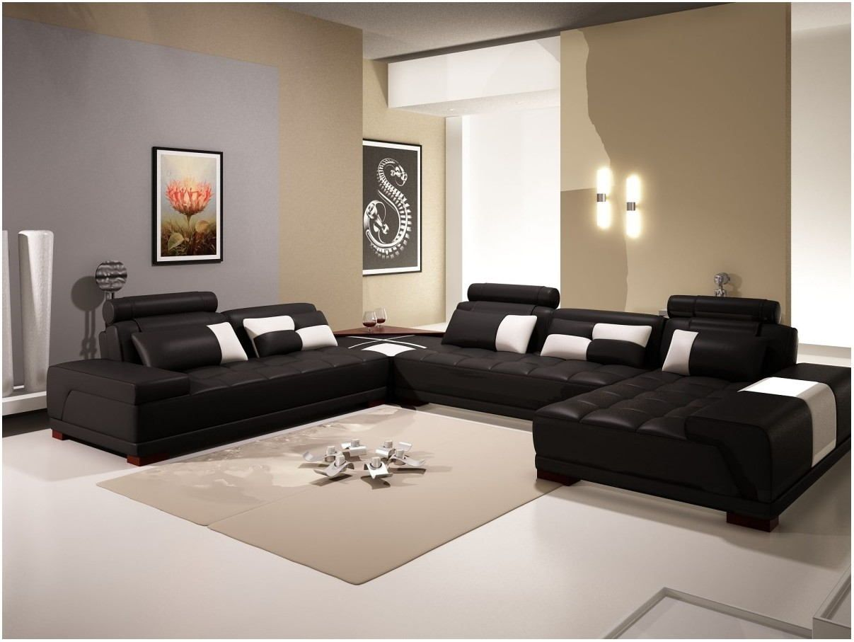 Living Room Paint Ideas With Black Furniture Black Leather Sofa Living Room Black Living Room Black Living Room Decor