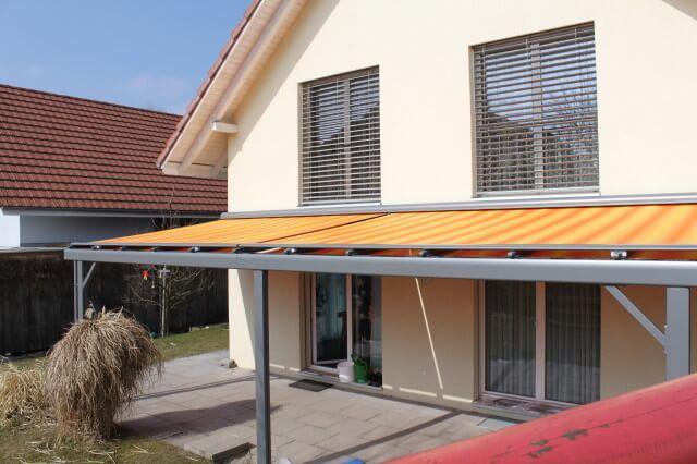 Coberti toldo horizontal motorizado para p rgola de for Brazos para toldos balcon