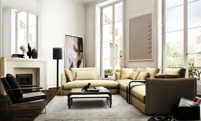 wanddeko ideen wohnzimmer bilder teppich Wandgestaltung - Tapeten