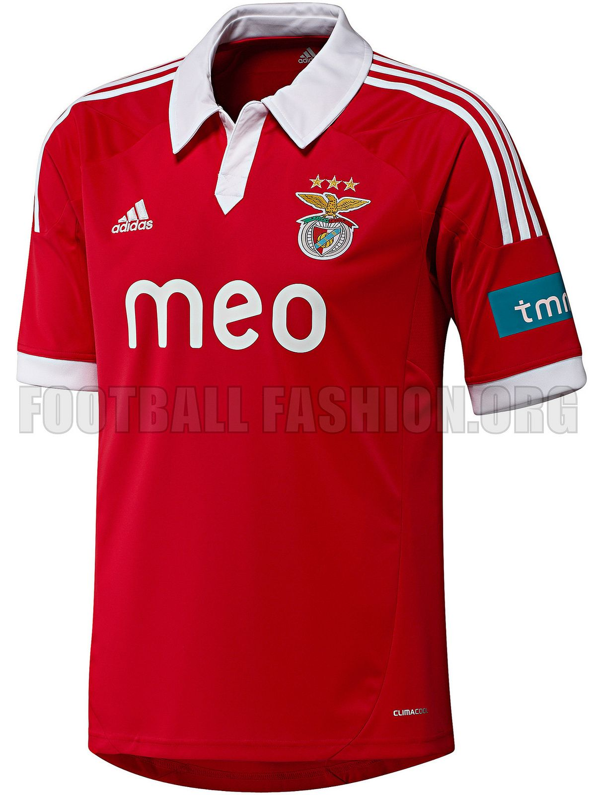 cd7237c9ad4 SL Benfica adidas 2012 13 Home and Away Jerseys