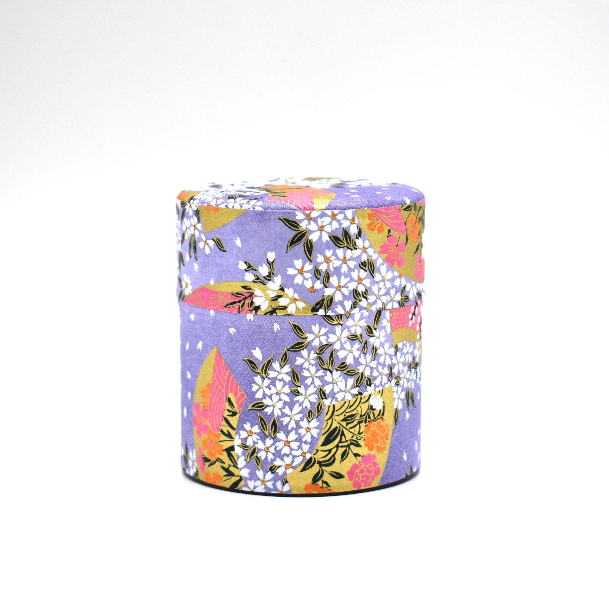Photo of Purple Fan Japanese Washi Tea Tin