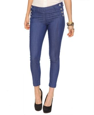 Colored Matelot Skinny Jeans