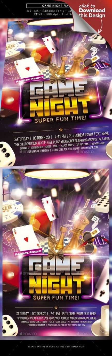 Games night flyer 15+ ideas for 2019 Family game night
