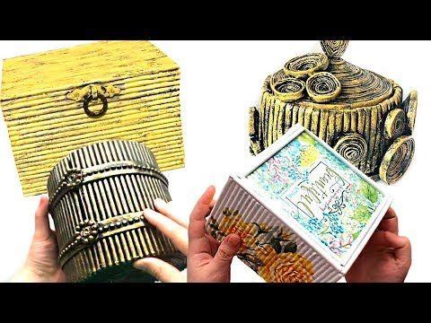 Caixa De Jornal Reciclado Diy 4 Ideias De Caixao Youtube Con