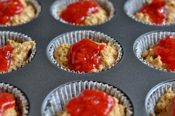 Gluten Free Peanut Butter and Jelly Muffins