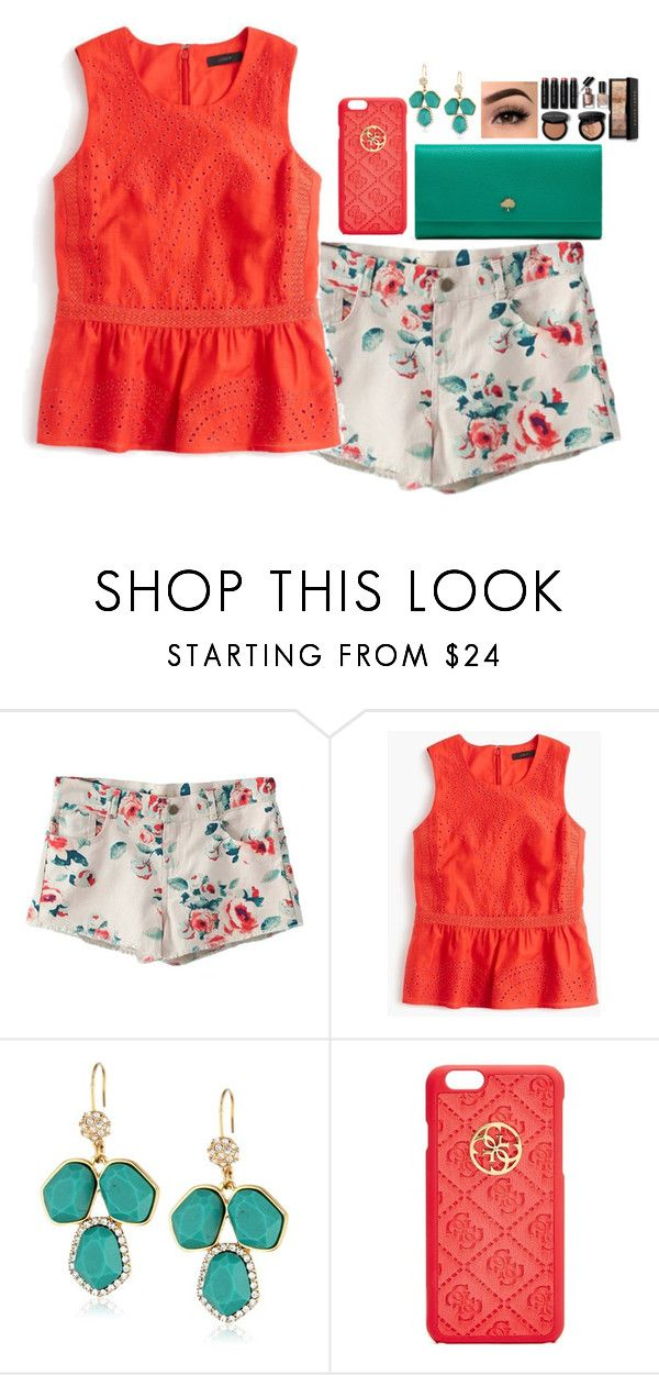 """""""Untitled #912"""" by aubreyspringer ❤ liked on Polyvore featuring J.Crew, Carolee LUX, GUESS, Mulberry and Bobbi Brown Cosmetics"""