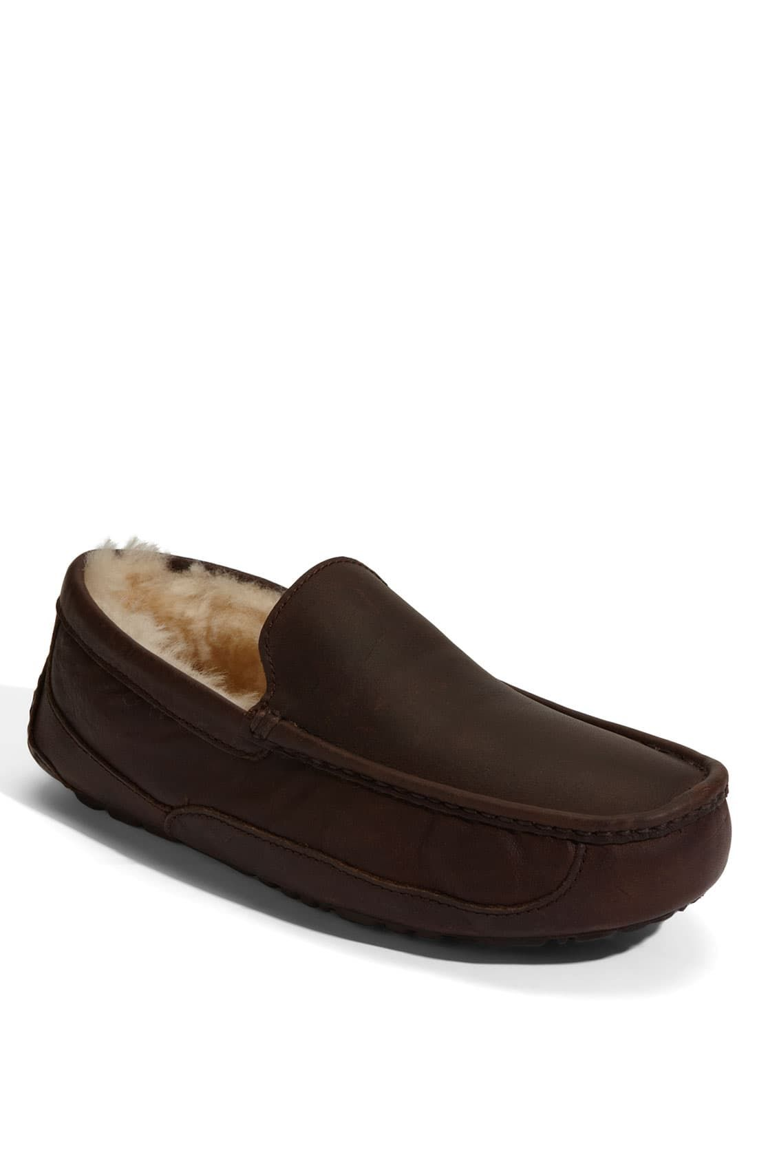 1cea8e180b2 Men's Ugg Ascot Leather Slipper, Size 16 M - Brown in 2019 ...