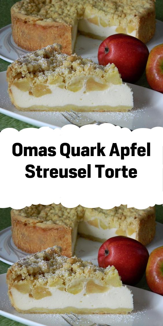 Omas Quark Apfel Streusel Torte Apfelkuchen Rezept Quark Apfel Quark Kuchen Kuchen Rezepte Einfach