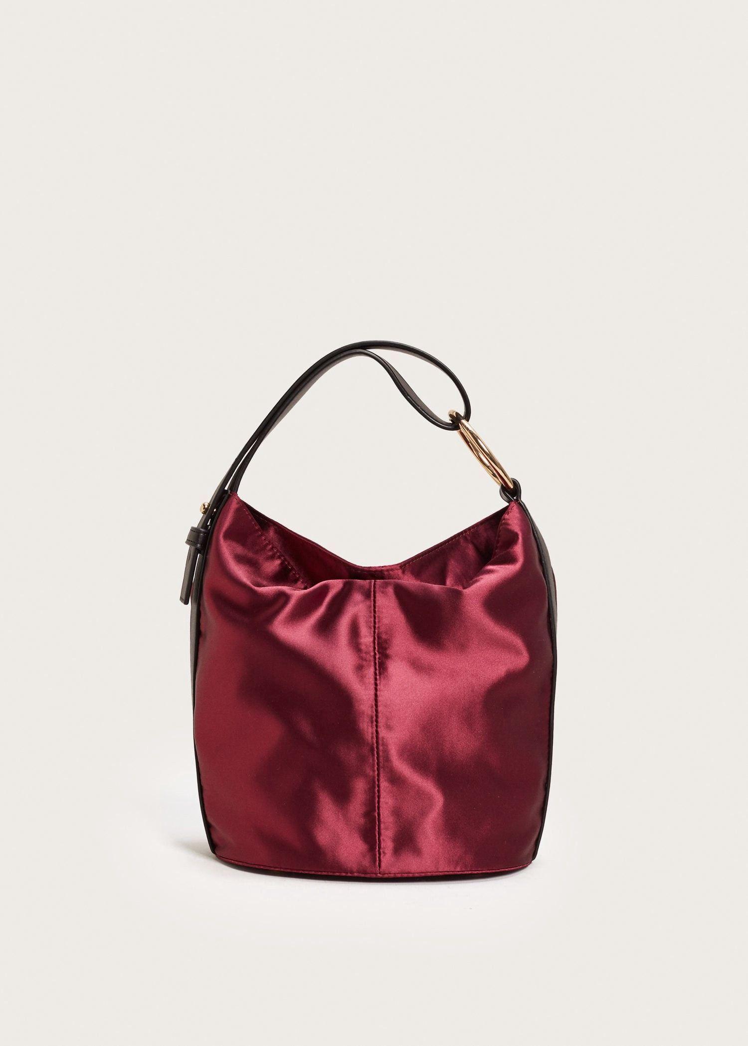Mango Satin Hobo Bag - Plus Sizes  928660f469cd6