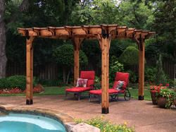 Ozco Project 315 Wood Pergola Shade Structure At Menards With