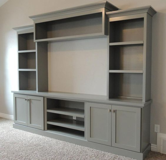 Family Room With Large Painted Entertainment Center Bing Images 2 You Ideas Built In Entertainment Center Home Family Room Design
