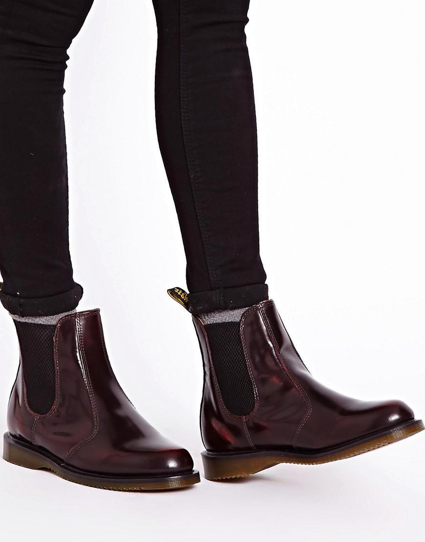 c3deb846833 Dr Martens | Dr Martens Kensington Flora Burgundy Chelsea Boots at ...