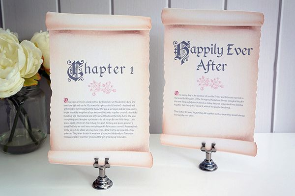 Fairytale-themed tables tell the story of your romance. And they lived happily ever after…