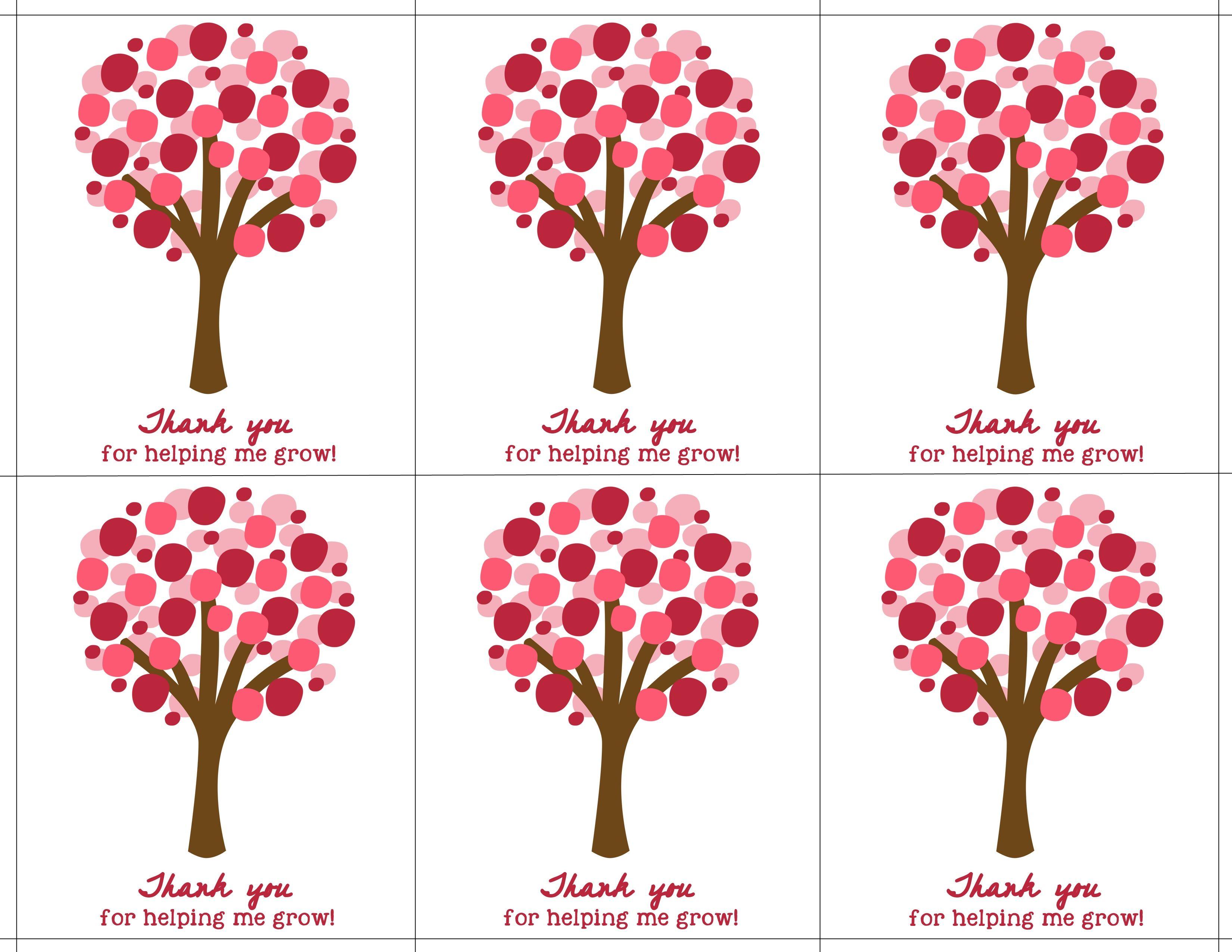 Teacher appreciation cards google search teacher gifts teacher appreciation gift ideas thanks for helping me grow free negle Gallery