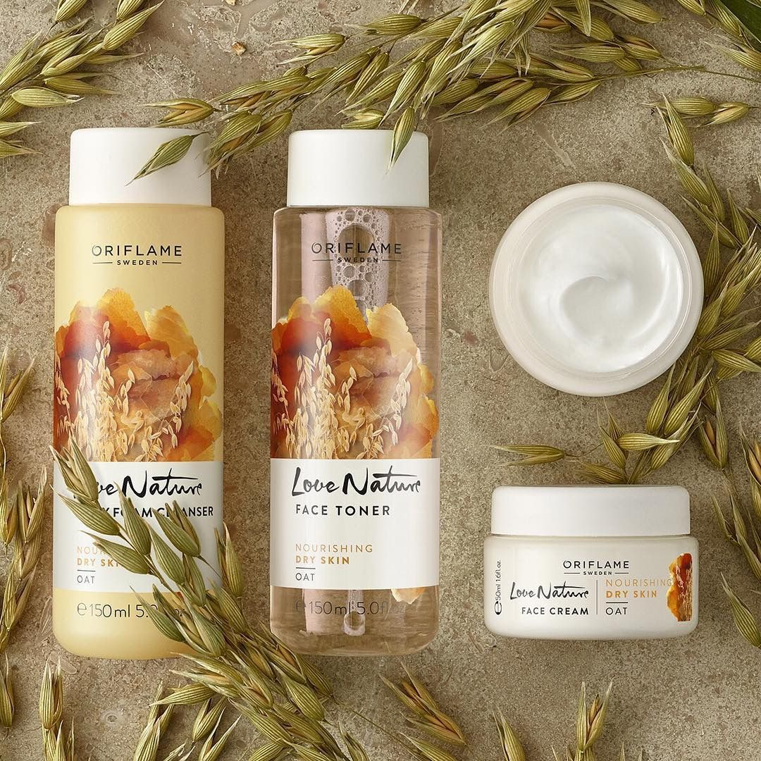 Oriflame Love Nature Oat Skincare Range Oriflame Beauty Products Skin Care Toner For Face