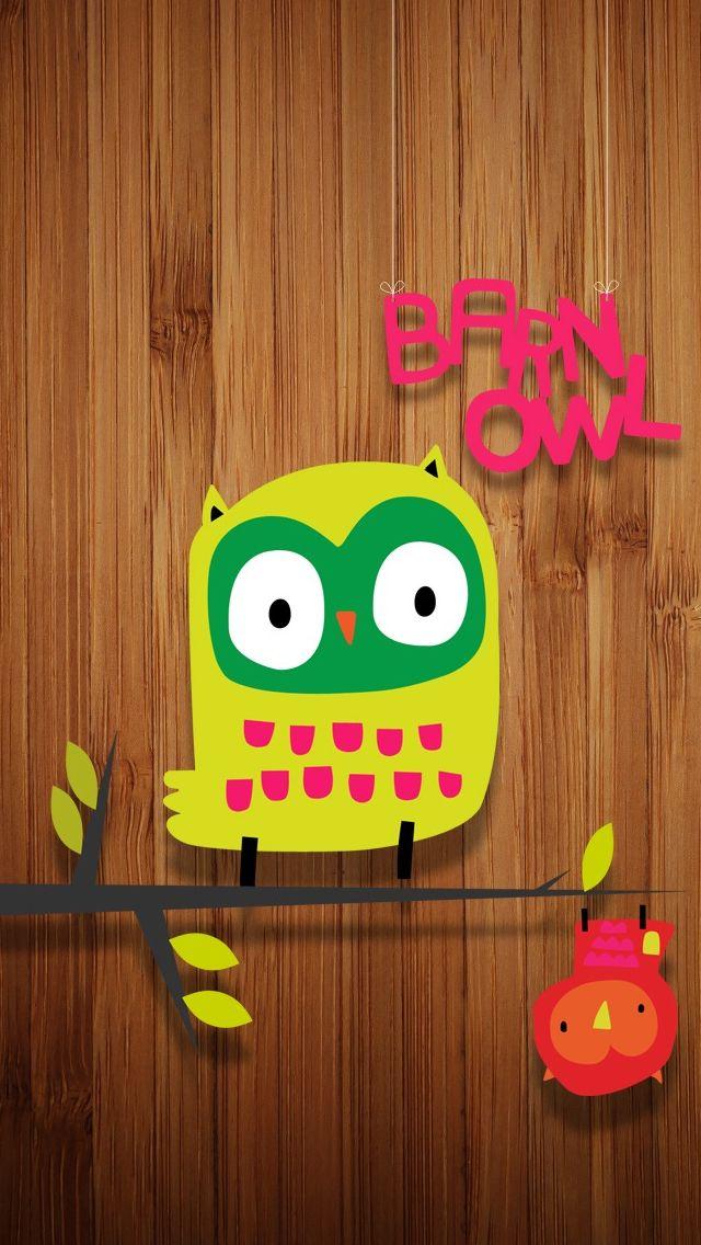 Cute Hanging Owl IPhone 5s Wallpaper
