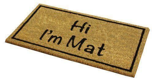 Outdoor Mat Novelty Coir House Entrance Door Garden Floor Home Carpet Rug Indoor