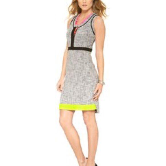 8b331694 Tahari Tweed Dress W Color Details | Products | Dresses, Neon ...