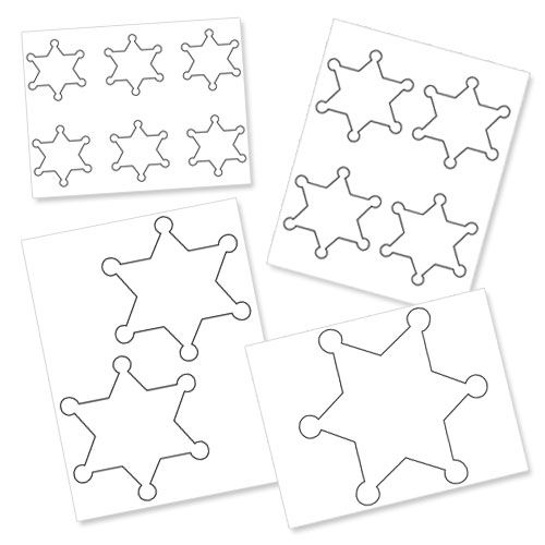 Free Printable Sheriff Badge Template   Printable Treats | Toy