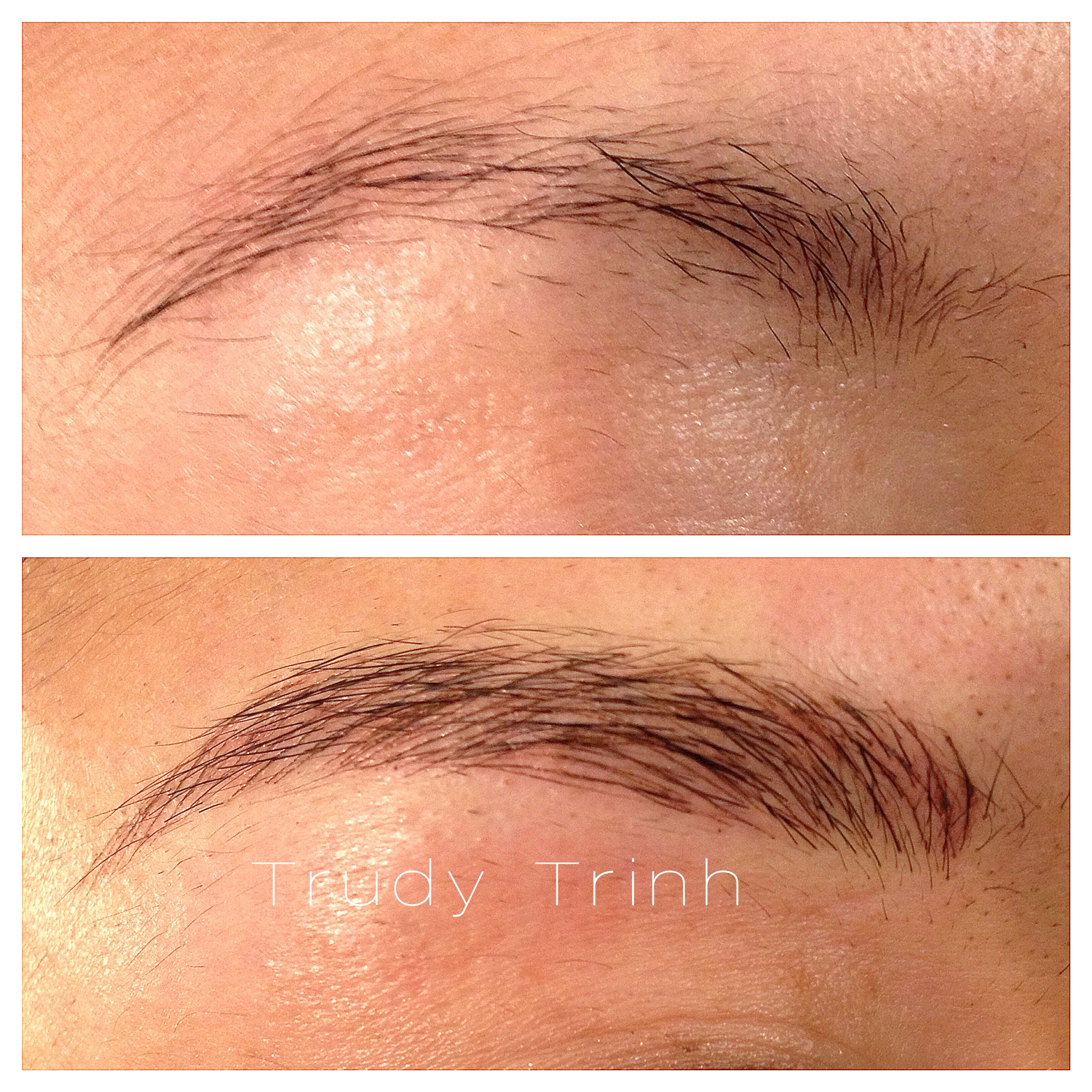 aff8e33bc15 Semi-permanent makeup tattooing by Trudy Trinh in Toronto, Canada.  Specializing in the hairstroke technique for very natural looking eyebrows.