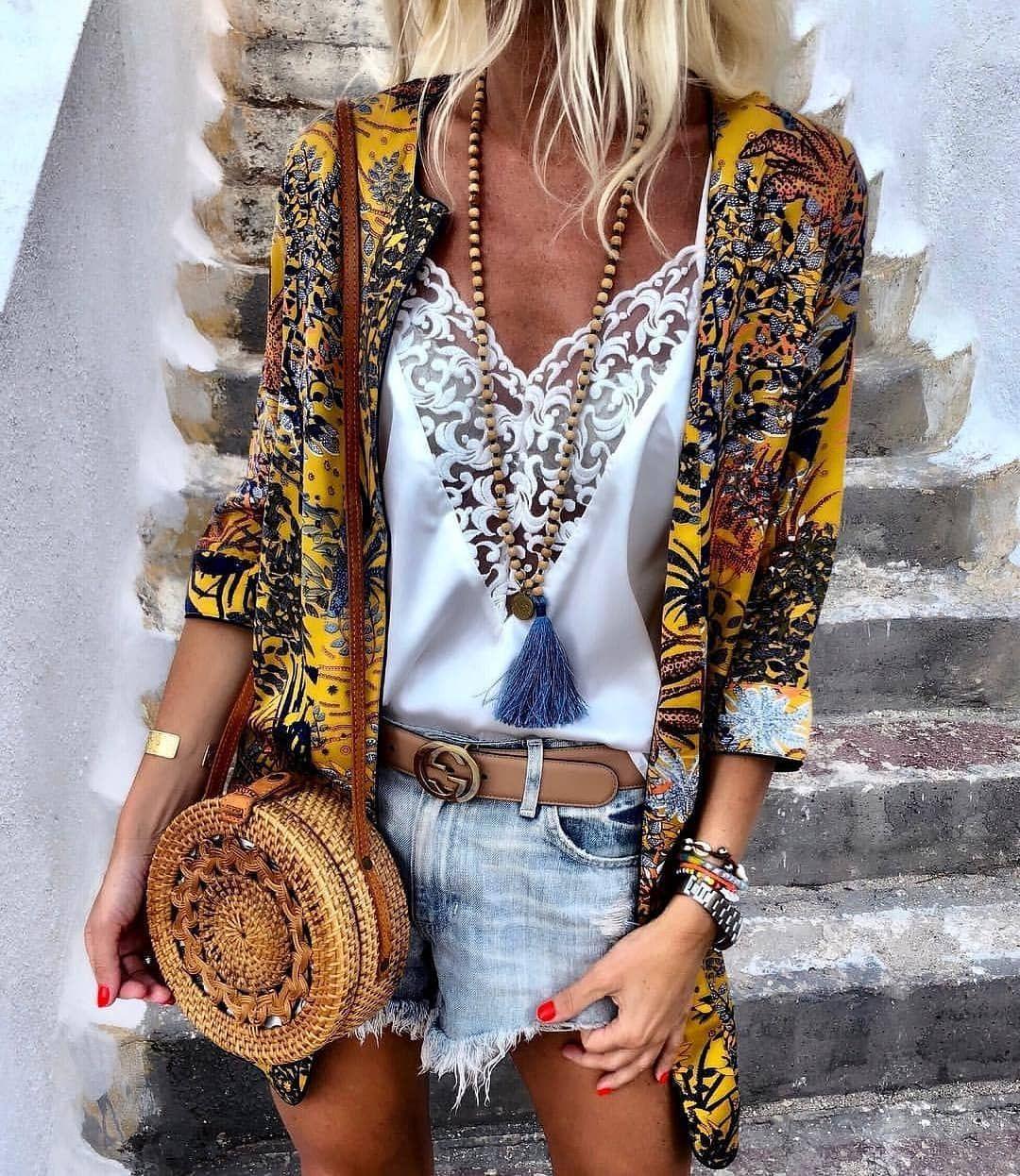 "Fashion Designer on Instagram ""Today outfit ☀☀☀☀☀☀ Via @annamavridis   Anzeige                                                                  boho bohostyle…"" is part of Boho chic outfits - 2,893 Likes, 55 Comments  Fashion Designer (@free spirit loveee) on Instagram ""Today outfit ☀☀☀☀☀☀ Via @annamavridis   Anzeige                                                   …"""