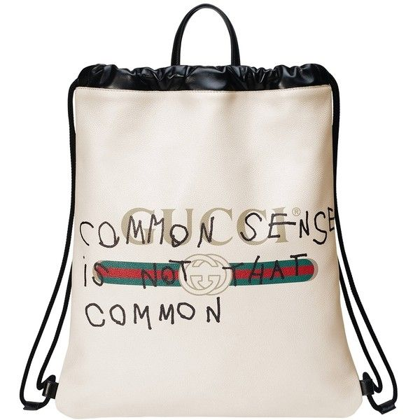 Gucci Printed Textured-leather Backpack - White Drm3HeWWI2