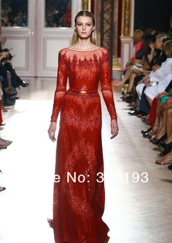 d343422467 Evening Gowns · Aliexpress.com   Buy Zuhair Murad Designer 2013 A line  White Long Sleeves Full Lace