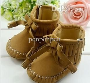 2015 Promotion Real Fringe Baby Moccasins Shoes For Girls Baby Shoes First Walkers Fashion Girl Tassel Boots Kid'S