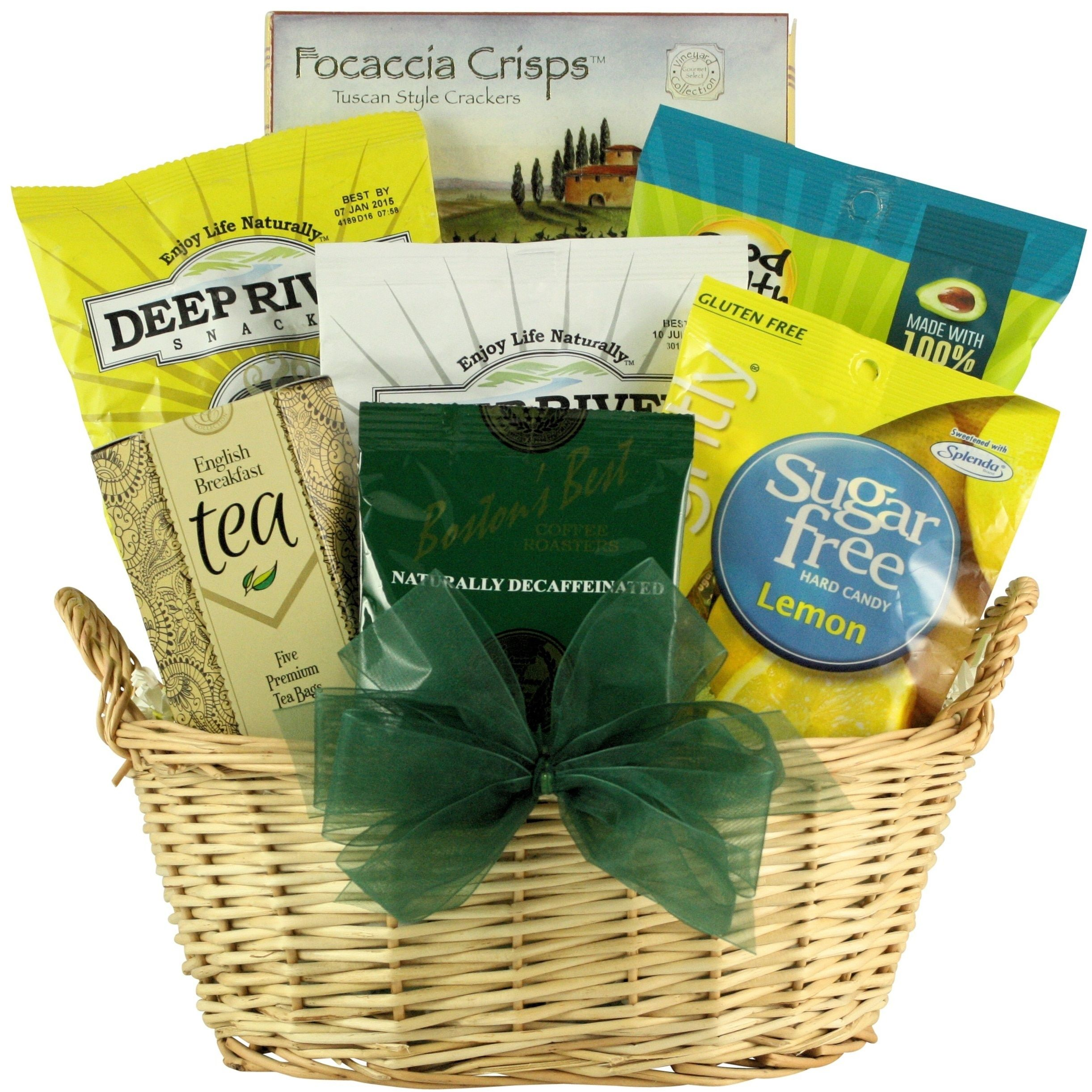 Simply sugar free small gourmet gift basket brown products get well gift baskets delivered and guaranteed to bring comfort and speed healing send your positive energy with any of these get well soon gift baskets negle Choice Image