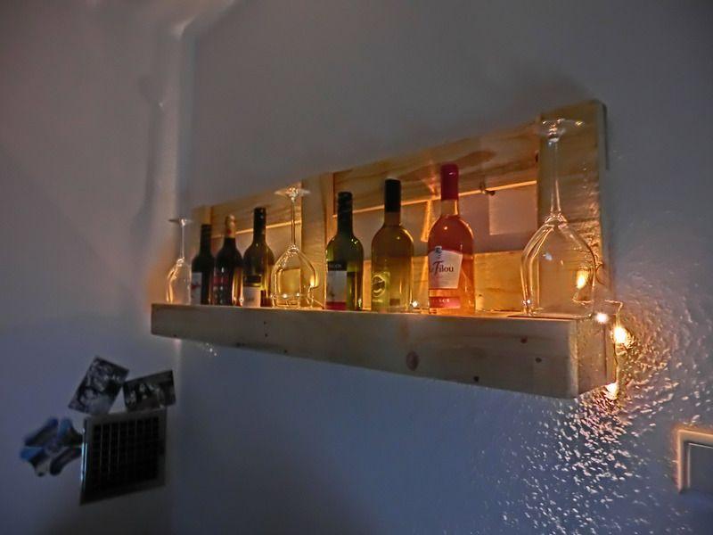 Weinregal+/+Küchenregal++geölt+mit+LED-Beleuchtung+von+Shabby ...
