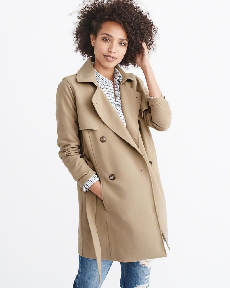 offer online for sale on wholesale This soft, drapey trench is SOooooo dreamy -- but they've ...